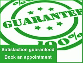 Satisfaction guaranteed - Book an appointment
